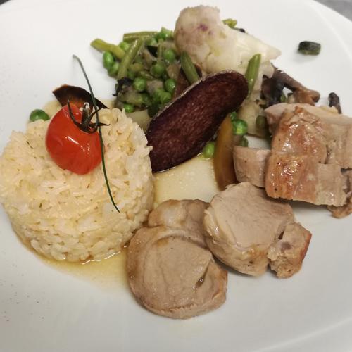 plat restaurant le Mas de la Gare